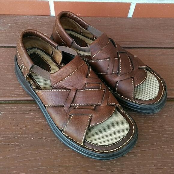 00512b248e17 Born Shoes - Born Brown Woven Leather Fishermen Sandals 7